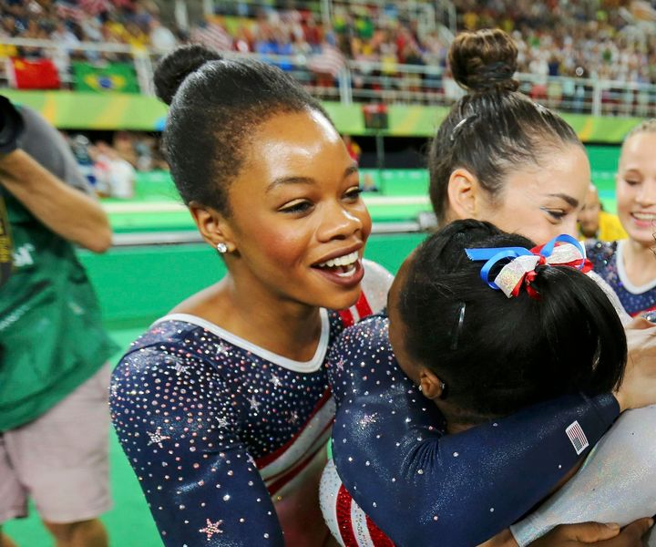 GymnastGabby Douglass rocked a berry lipstick shade while competing at the 2016 Olympics in Rio de Janeiro, Brazil.