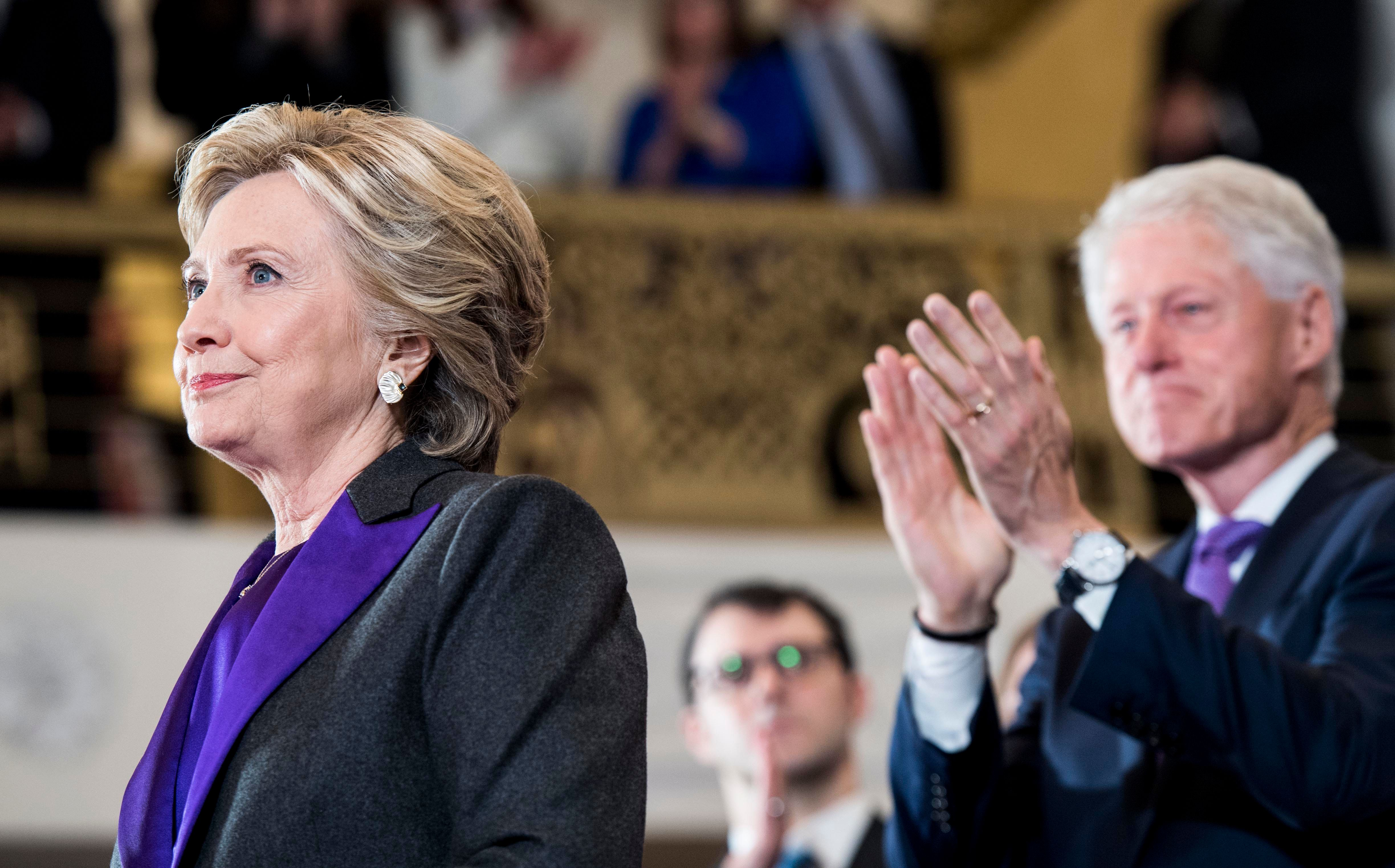Bill Clinton Tears Up After Casting Electoral Vote For
