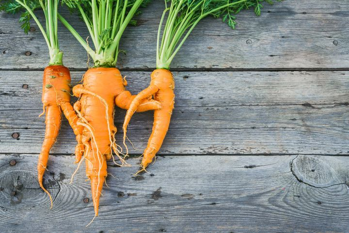 In the U.S., half of all produce grown is thrown out because it's bruised or misshapen. It is, however, still perfectly