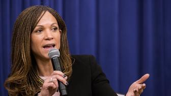 In the South Court Auditorium of the Eisenhower Executive Office Building of the White House in Washington DC, on 16 December 2016, Melissa Harris-Perry, Editor-at-Large, ELLE Magazine, participated in: An Armchair with ELLE- Lessons, Leadership and Legacy: The Journey Toward Opportunity for All. (Photo by Cheriss May/NurPhoto via Getty Images)