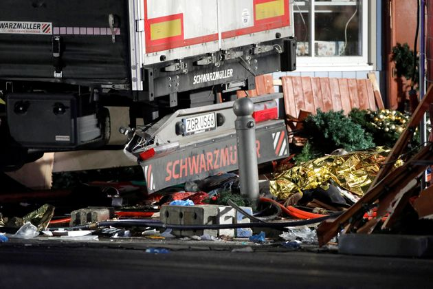 The lorry ploughed into a busy Christmas