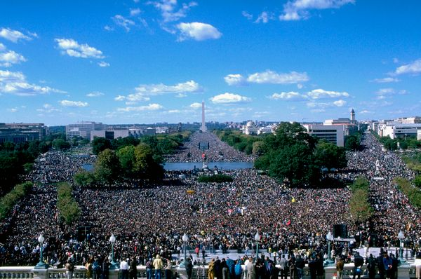 Million Man March (Photo by Larry Downing/Sygma/Sygma via Getty Images)