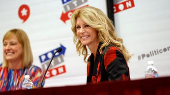 "Former Texas state Senator Wendy Davis smiles during the ""Politicon"" convention in Pasadena, California, U.S. June 25, 2016.  REUTERS/Patrick T. Fallon"