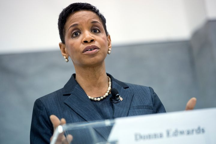 Citizens United became a big issue in the Democratic Senate primary in Maryland between Rep. Donna Edwards (pictured) and Rep