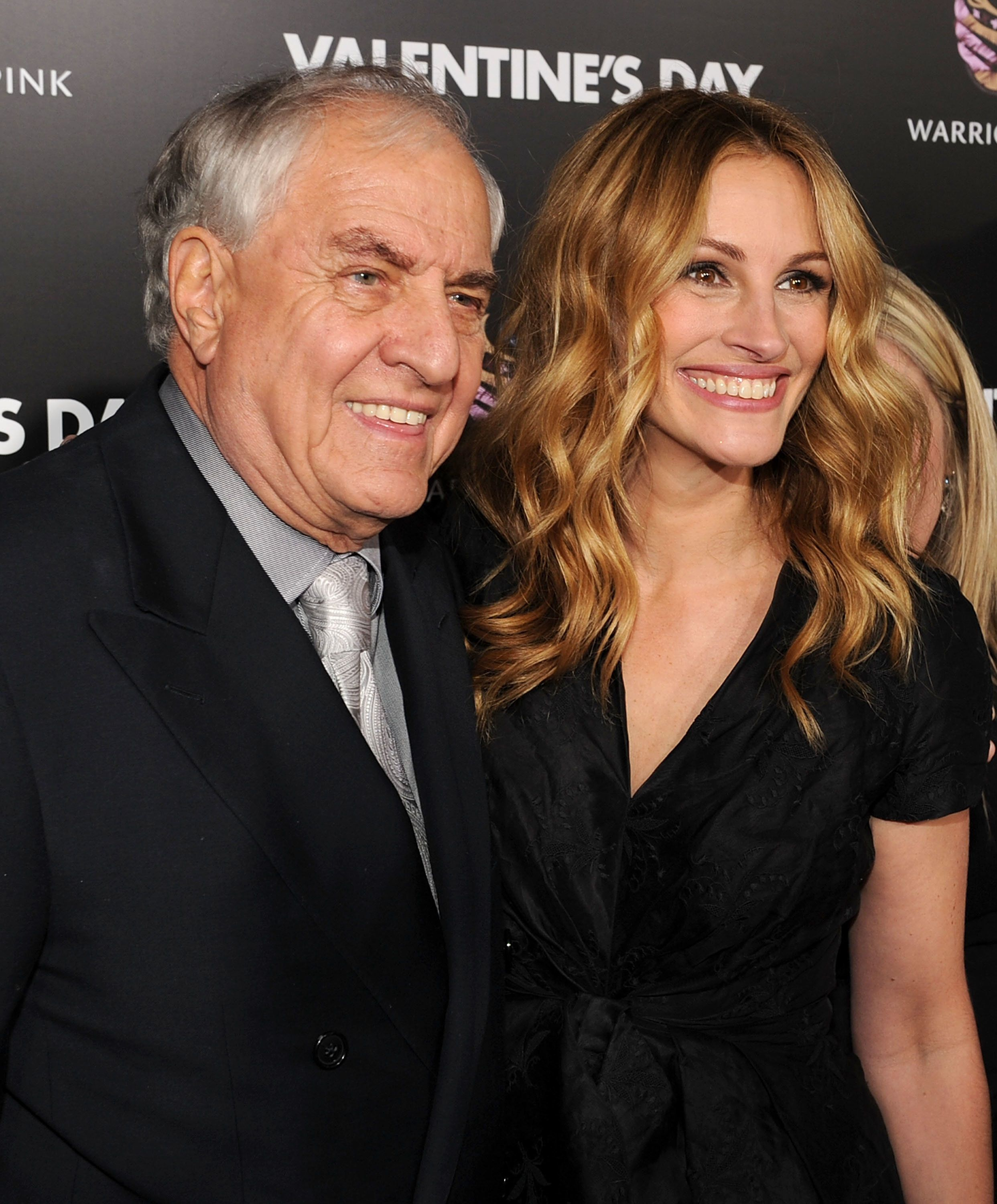 "Garry Marshall and Julia Roberts at the premiere of ""Valentine's Day"" in Los Angeles, California."