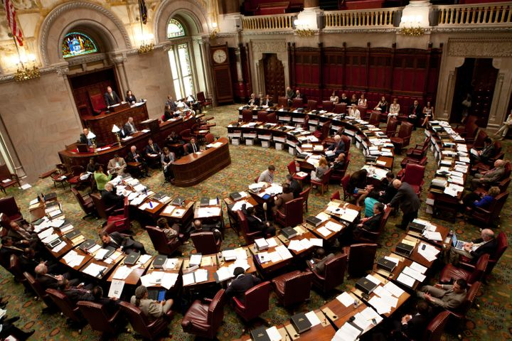 The New York State Senate in Albany, N.Y.is one ofmore than a dozen state legislative chambers whereDemocra