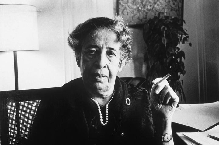 "Jewish American political thinker Hannah Arendt, who escaped Germany in 1933, saw the problem as ""not what our enemies did, b"
