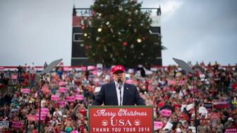 MOBILE, AL - DECEMBER 17: President-Elect Donald J. Trump speaks during a 'USA Thank You Tour 2016' event at the LaddPeebles Stadium in Mobile, AL on Saturday, Dec. 17, 2016. (Photo by Jabin Botsford/The Washington Post via Getty Images)