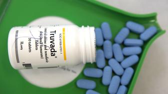 SAN ANSELMO, CA - NOVEMBER 23:  A bottle of antiretroviral drug Truvada is displayed at Jack's Pharmacy on November 23, 2010 in San Anselmo, California. A study published by the New England Journal of Medicine showed that men who took the daily antiretroviral pill Truvada significantly reduced their risk of contracting HIV. (Photo Illustration by Justin Sullivan/Getty Images)