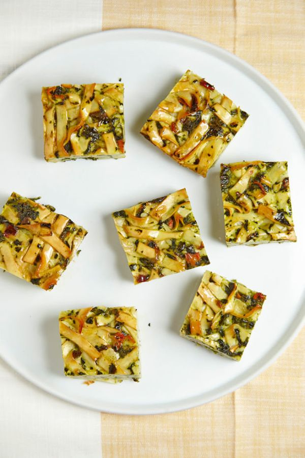 "<strong>Get the <a href=""http://www.joyofkosher.com/recipes/spinach-noodle-kugel1/"" target=""_blank"">Spinach Noodle Kugel reci"