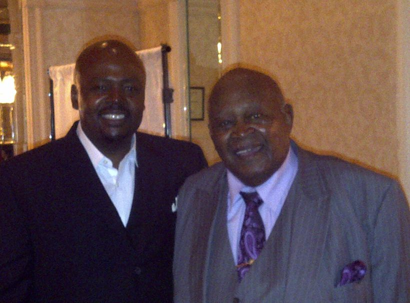 John Fountain with his grandfather George A. Hagler.