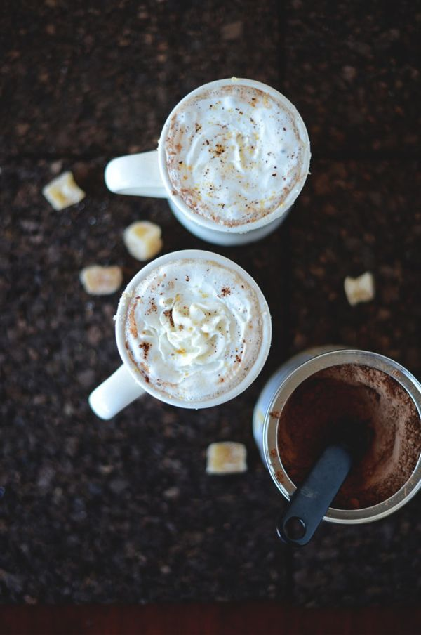 """<strong>Get the <a href=""""http://minimalistbaker.com/ginger-hot-chocolate/"""" target=""""_blank"""">Ginger Hot Chocolate recipe</a> fr"""