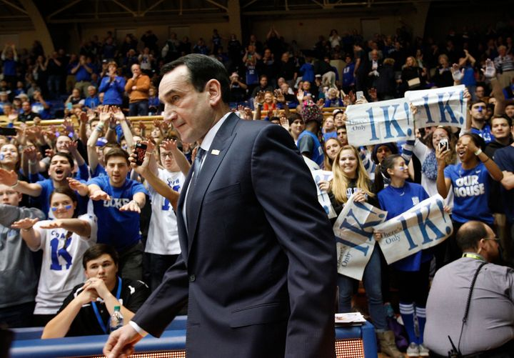 Mike Krzyzewski won his 1,000th game as a head coach last season. He has compiled more wins than anyone in Division I history