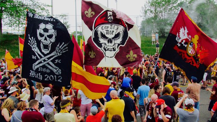 The Northern Guard and the march to Keyworth Stadium.