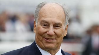 KILDARE, IRELAND - JUNE 25: H H Aga Khan poses at Curragh racecourse on June 25, 2016 in Kildare, Ireland. (Photo by Alan Crowhurst/Getty Images)