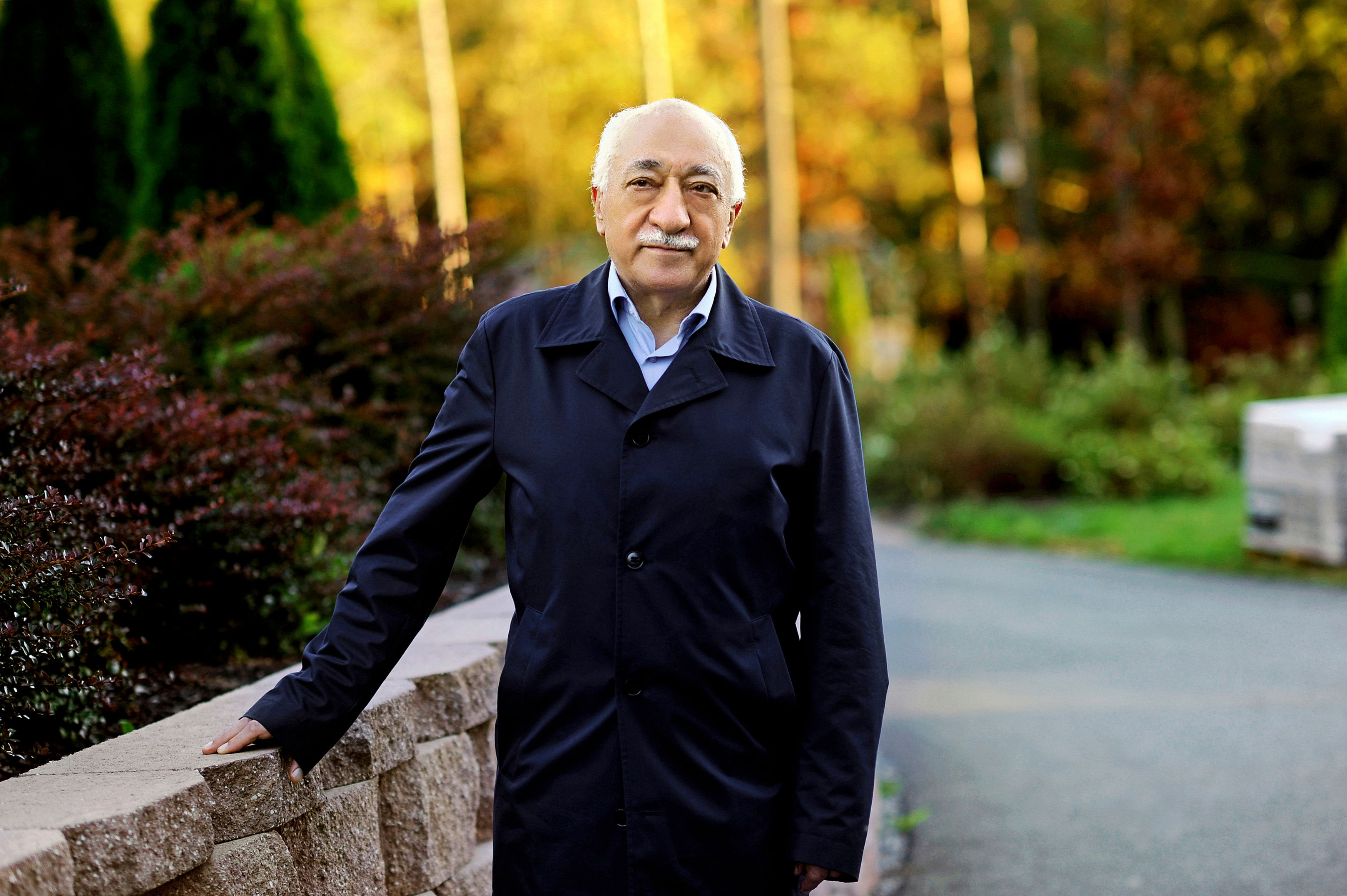 Islamic preacher Fethullah Gulen is pictured at his residence in Saylorsburg, Pennsylvania September 24, 2013. Born in Erzurum, eastern Turkey, Gulen built up his reputation as a Muslim preacher with intense sermons that often moved him to tears. From his base in Izmir, he toured Turkey stressing the need to embrace scientific progress, shun radicalism and build bridges to the West and other faiths. The first Gulen school opened in 1982. In the following decades, the movement became a spectacular success, setting up hundreds of schools that turned out generations of capable graduates, who gravitated to influential jobs in the judiciary, police, media, state bureaucracy and private business. Picture taken September 24, 2013. To match Insight TURKEY-ERDOGAN/GULEN   REUTERS/Selahattin Sevi/Zaman Daily via Cihan News Agency (UNITED STATES  - Tags: POLITICS RELIGION)    ATTENTION EDITORS - THIS IMAGE WAS PROVIDED BY A THIRD PARTY. FOR EDITORIAL USE ONLY. NOT FOR SALE FOR MARKETING OR ADVERTISING CAMPAIGNS. THIS PICTURE IS DISTRIBUTED EXACTLY AS RECEIVED BY REUTERS, AS A SERVICE TO CLIENTS. TURKEY OUT. NO COMMERCIAL OR EDITORIAL SALES IN TURKEY