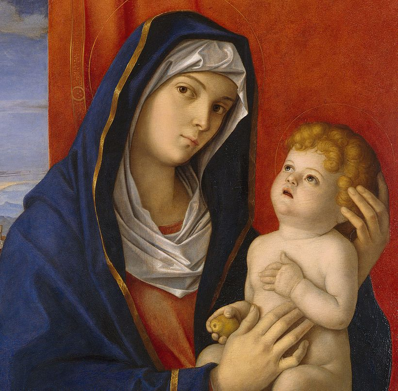 An image of the Madonna and the Child by the medieval Italian artist Giovanni Bellini