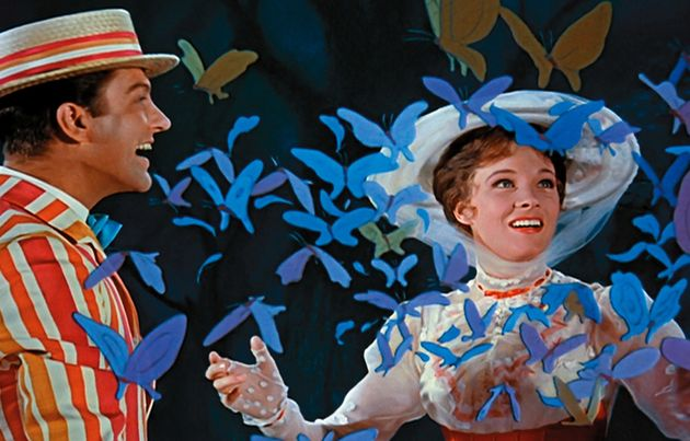 Dick Van Dyke and Mary Poppins in the original 'Mary Poppins'