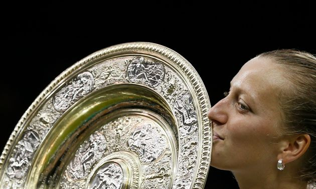 Petra Kvitova after winning Wimbledon in