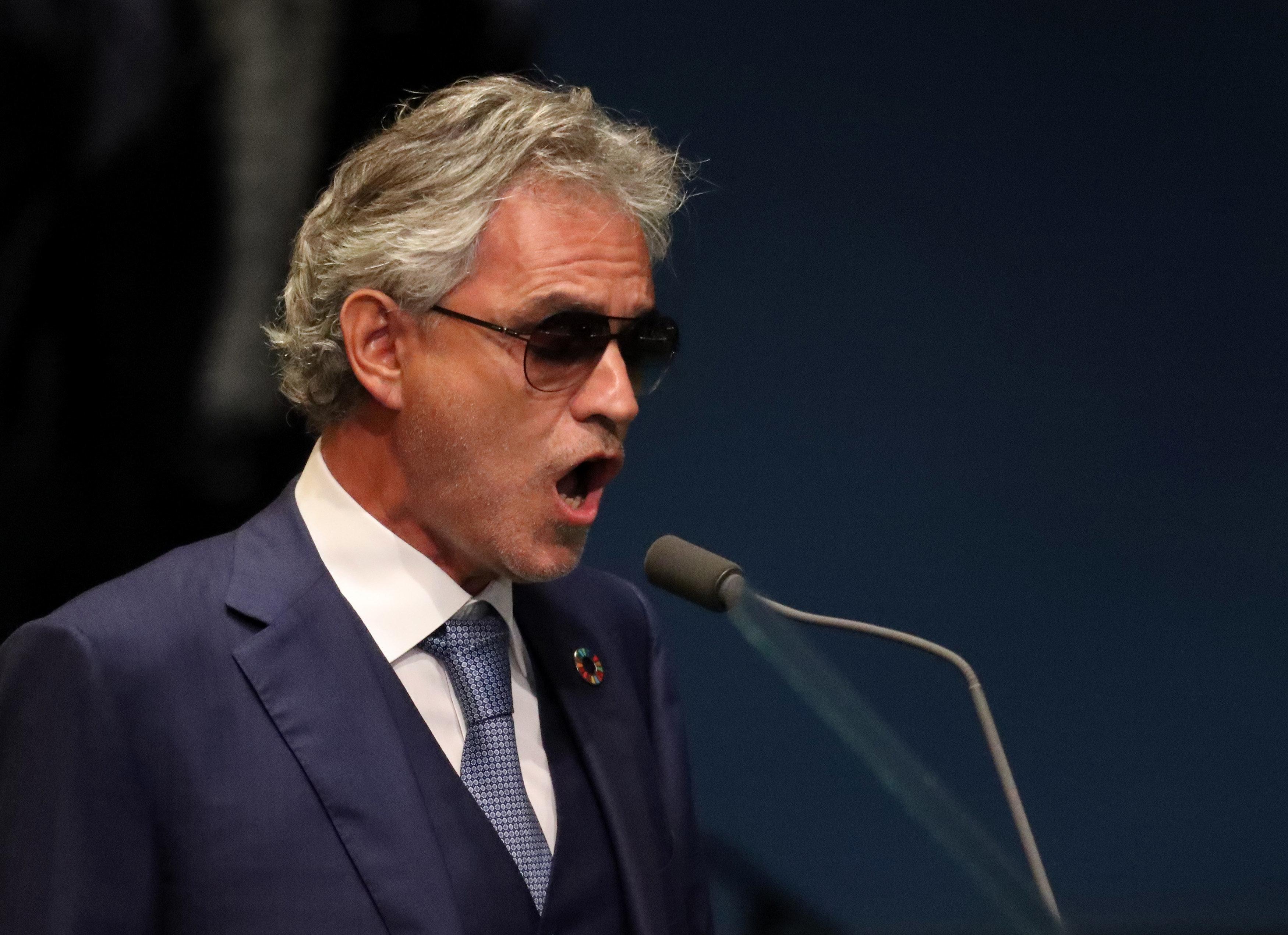 Andrea Bocelli Sings Nessun Dorma Ahead Of The U N General Debate In New York