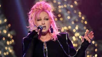 Cyndi Lauper performs before the 85th annual Hollywood Christmas Parade in Los Angeles, California, U.S. November 27, 2016. REUTERS/Phil McCarten