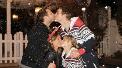 Kristen Bell And Dax Shepard Kiss Couple At Best Christmas Party