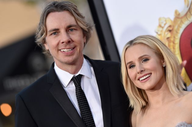 Best Christmas Party Ever.Kristen Bell And Dax Shepard Share Same Sex Kiss With Couple