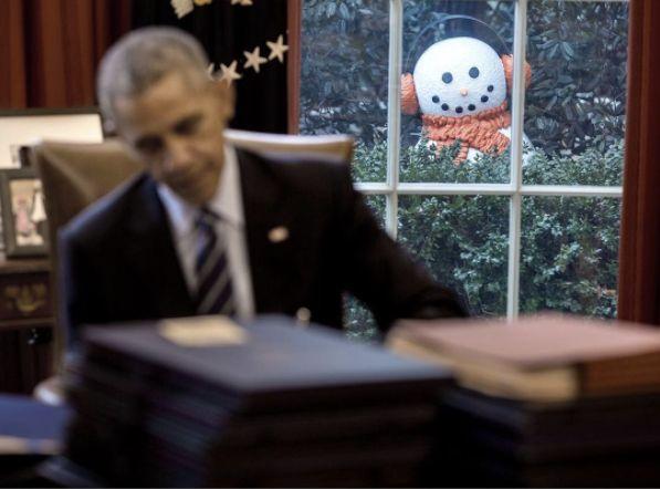 White House Staff Pranks President Obama With Creepy