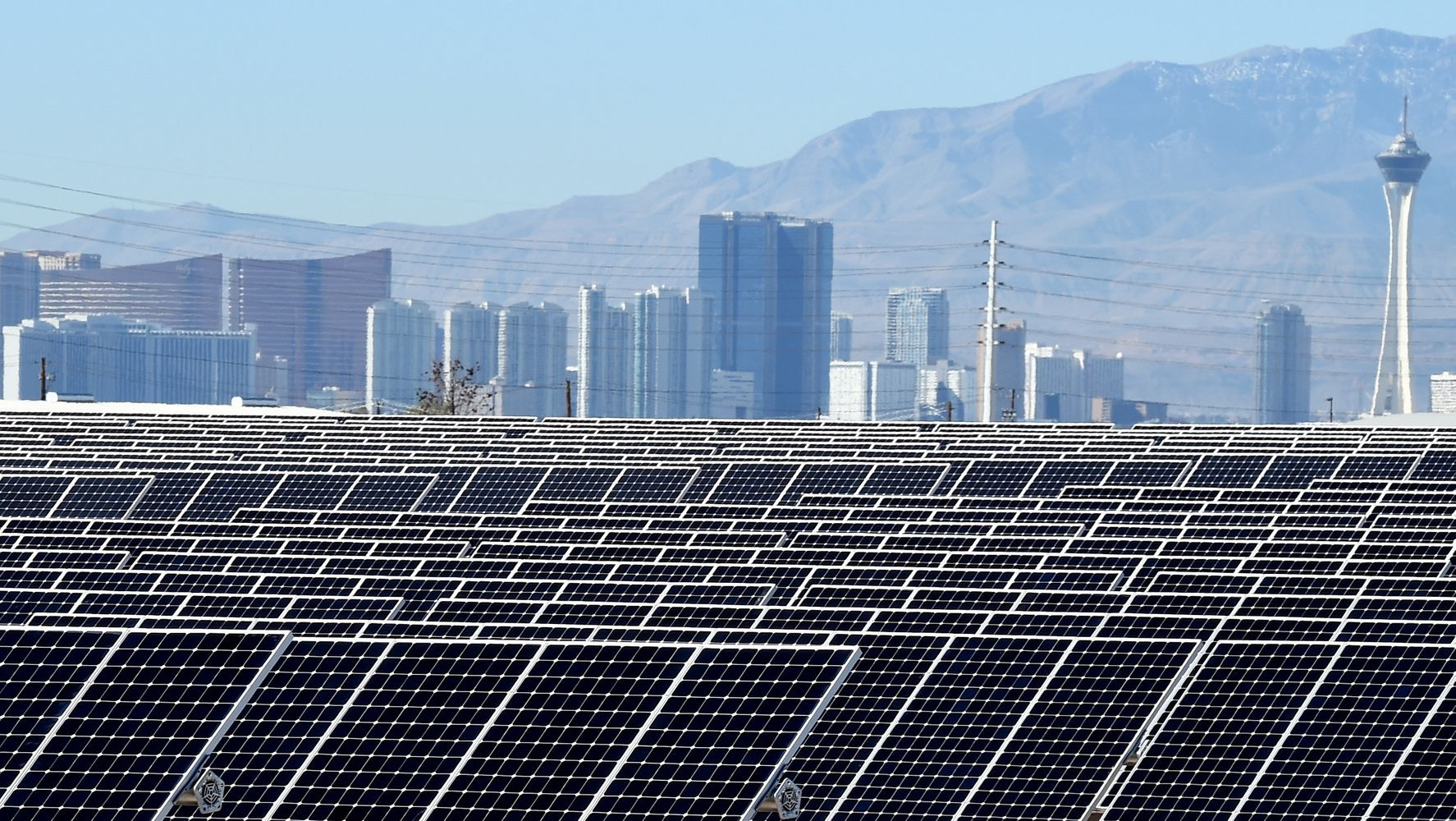 The City Of Las Vegas Is Now Powered Entirely By Renewable Energy