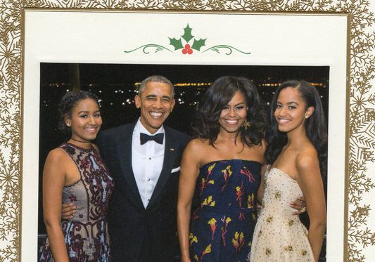 To mark their final Christmas in the White House, the first family was featured on a holiday card and they look as stunning a