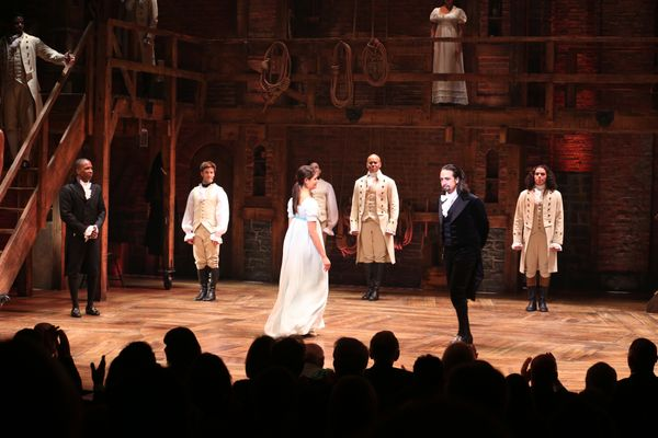 """""""Hamiliton"""" made its Broadway debut in August and has been slaying the stage ever since. The show is breaking records, as it"""