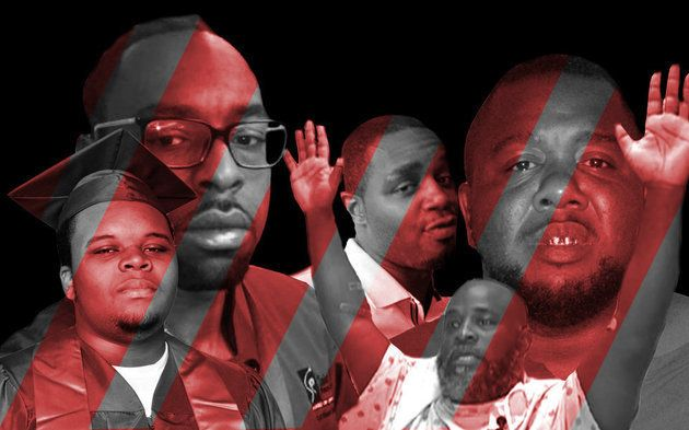 From left: Micheal Brown Philando Castile Delrawn Small Charles Kinsey and Alton Sterling