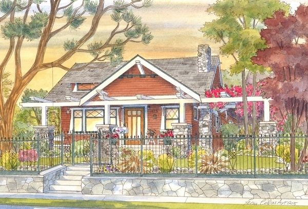 <strong><em>Craftsman home in Monrovia, California</em></strong>