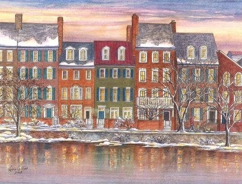 <strong><em>Old Town Alexandria, where Collins successfully relaunched her artistic career</em></strong>