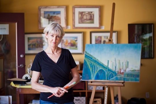 <strong><em>Collins encourages artists to get beyond their studio walls</em></strong>