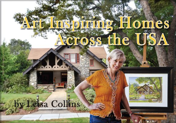 <strong><em>Collins working on her coffee table book of her nationwide art</em></strong>