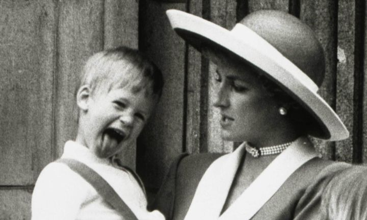 Prince Harry with his mother Princess Diana, who died in a car accident in 1997.
