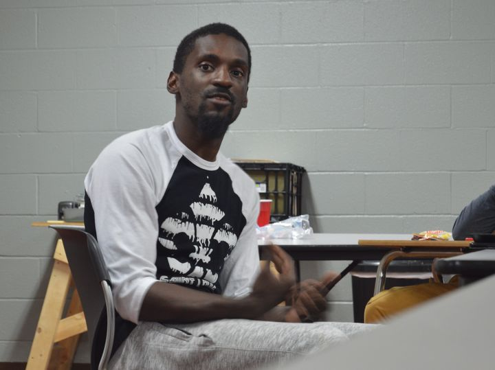 Missouri State Rep.-elect Bruce Franks Jr. at a meeting of his 28-to-Life organization in St Louis on Nov. 4. Franks reported