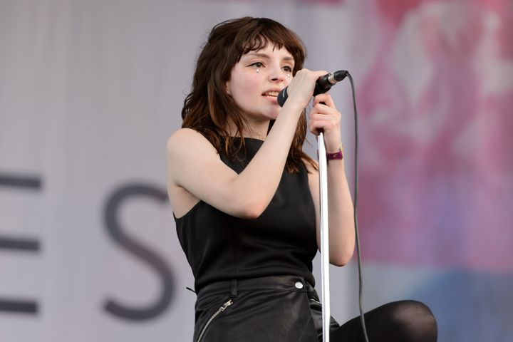 Lauren Mayberry of Chvrches performs during Pitchfork Music Festival 2015 at Union Park on July 17, 2015 in Chicago.
