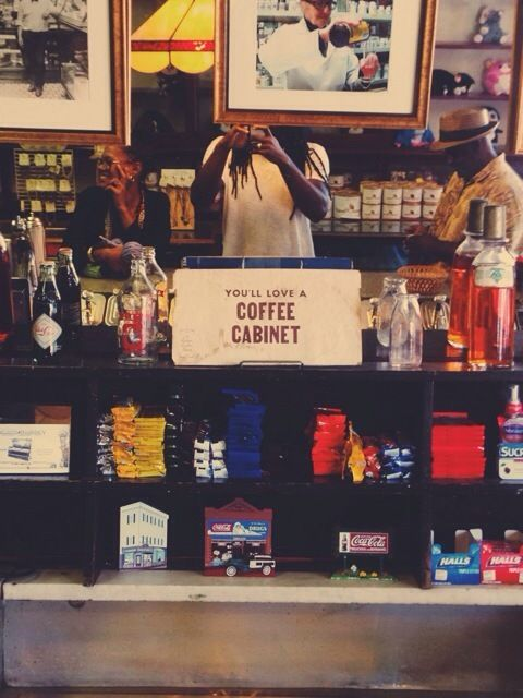 """<p>""""This was an old school drug store that sold these things called, """"Coffee Cabinets"""" which is pretty much a milkshake. The best milkshake EVER. The lady, Lesley-Ann."""" (she is on the right) at the 2014 Rhode Island Writer's Colony</p>"""
