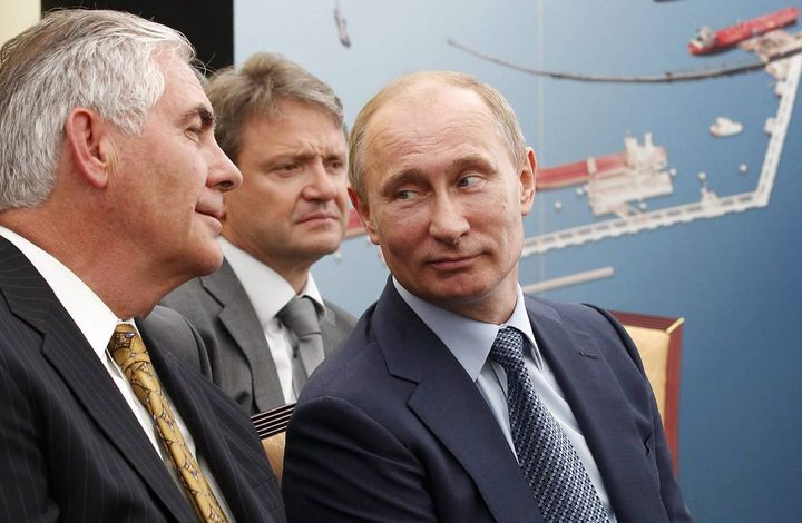 Rex Tillerson – Exxon Mobil CEO and Trump's pick for Secretary of State – with Vladimir Putin: part of a burgeoning global kl