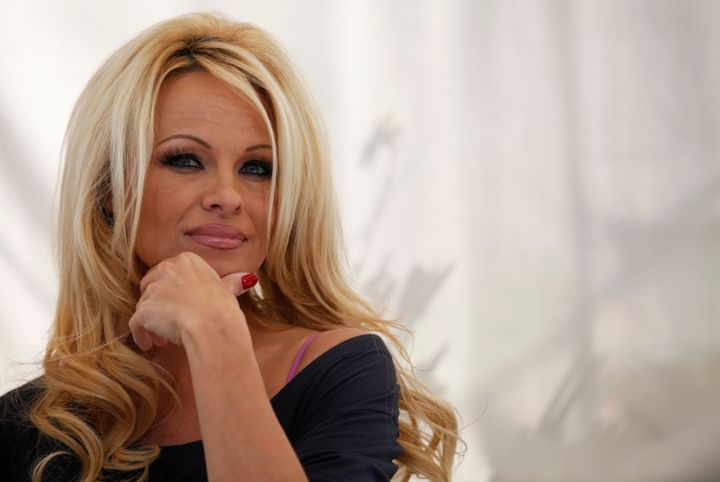 Pamela Anderson, pictured March 22, 2012.