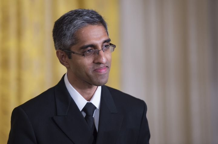 US Surgeon General Vivek Murthy delivers remarks at a Clean Power Plan event at the White House in Washington, DC, August 3, 2015.