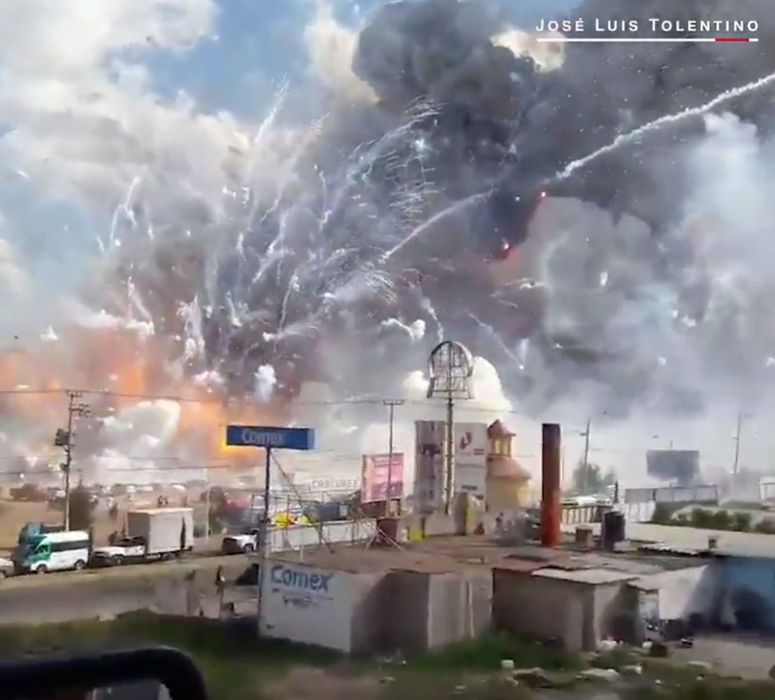 Terrifying Footage Shows Fireworks Market Explosion That Killed At Least