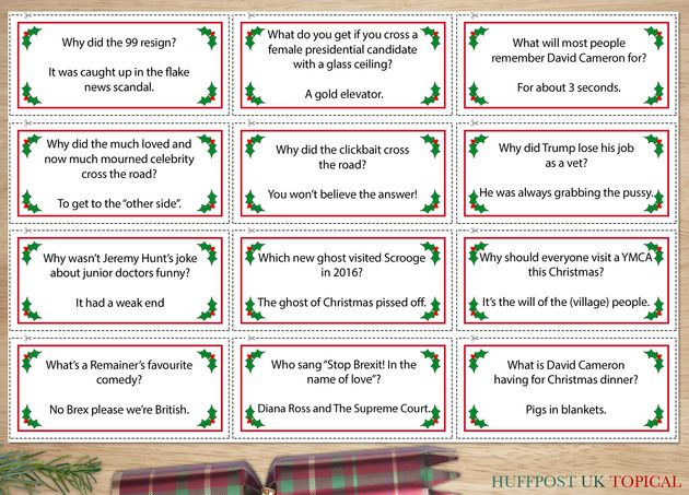 Cut Out And Keep Christmas Cracker Jokes Your Sh T 2016 Britain Edition Huffpost Uk