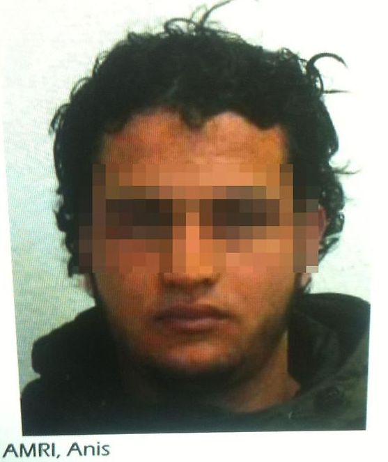Suspect: German police are searching for a Tunisian man named as either Ahmed or Anis A though he reportedly...