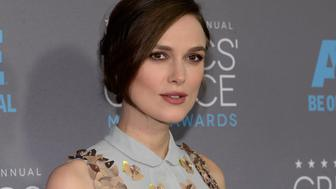 "Actress Kiera Knightley, from the film ""The Imitation Game,"" arrives at the 20th Annual Critics' Choice Movie Awards in Los Angeles, California January 15, 2015.   REUTERS/Kevork Djansezian (UNITED STATES  - Tags: ENTERTAINMENT)   (CRITICSCHOICE-ARRIVALS)"