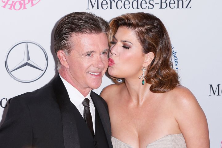 Alan Thicke and Tanya Callau in 2014.