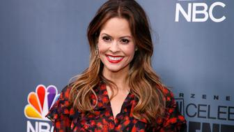 "Cast member Brooke Burke-Charvet poses after a panel for ""The New Celebrity Apprentice"" in Universal City, California, December 9, 2016. REUTERS/Danny Moloshok"