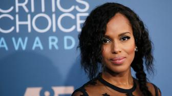 Actress Kerry Washington arrives at the 22nd Annual Critics' Choice Awards in Santa Monica, California, U.S., December 11, 2016.  REUTERS/Danny Moloshok